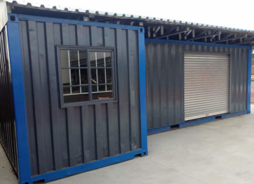 Container used as storage