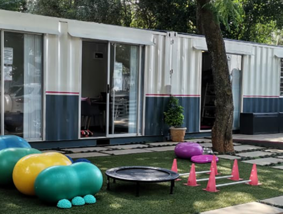 Containers in use as a veterinary rehabilitation centre